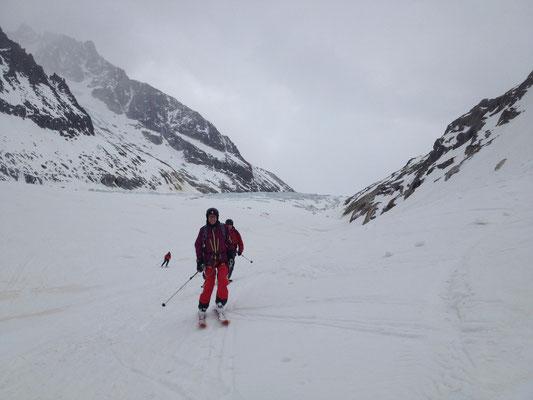 Sortie du Glacier d'Argentière