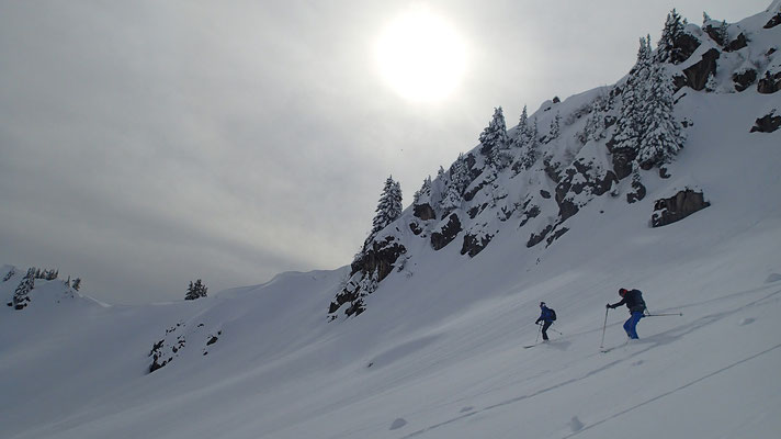 Belle qualité de neige à la descente