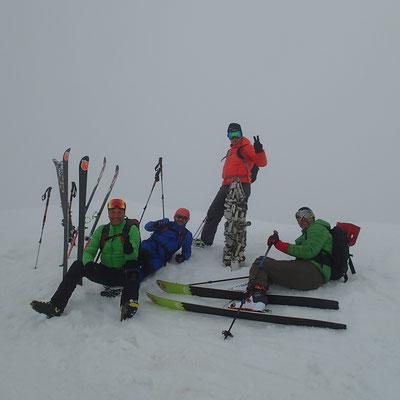 Fred, Olivier, Franck et Laurent avec un sommet de plus ! Bravo !