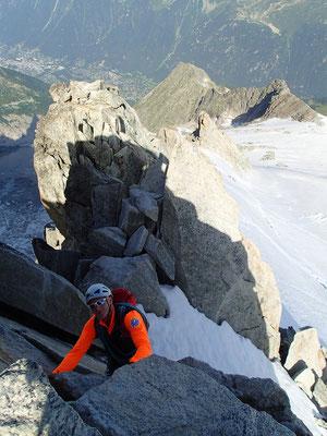 Antony en action. En bas en vallée, Chamonix