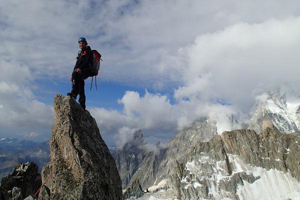 Toujours au sommet, Yann prend la pose