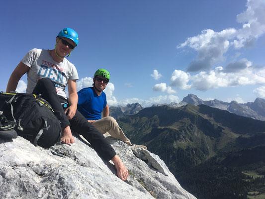 Marc-André et Olivier au sommet. Que du bonheur !