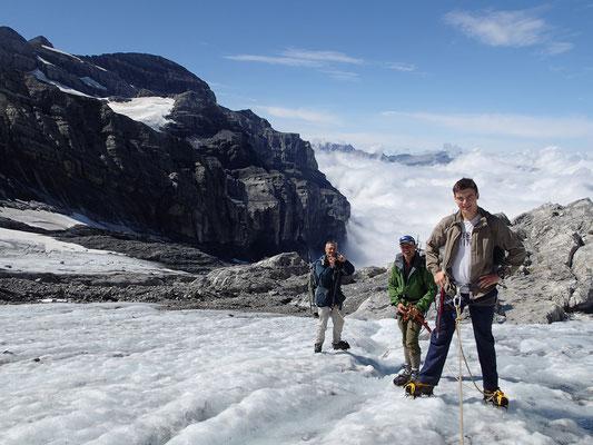 Au retour sur le Glacier du Ruan, devant le Tenneverge