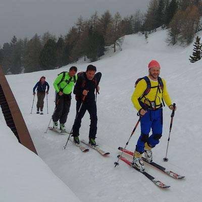 L'équipe à l'alpage de Champchenille