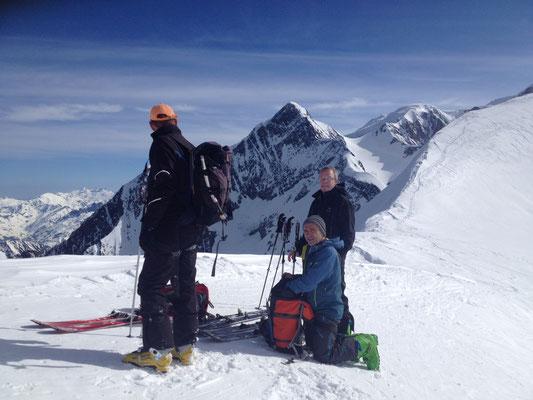 L'équipe au Col des Dômes