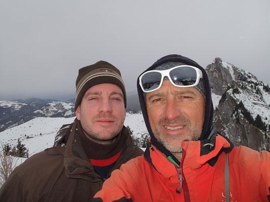 Le selfie du sommet avant le mauvais temps