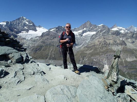 A la descente, Michel devant d'autres 4000 m