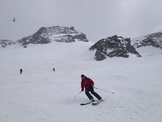 Bon ski dans la Face