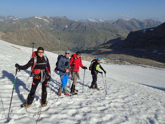 Descente sur le Glacier avec vue sur le Mont-Blanc