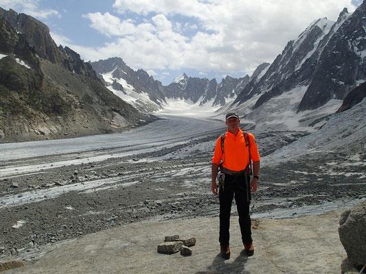 Photo obligatoire! Glacier d'Argentière et Mt-Dolent