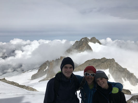 Avec Corentin et Guillaume, pris en photo par Nicolas