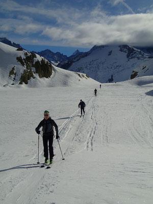 A skis sur le Lac Blanc