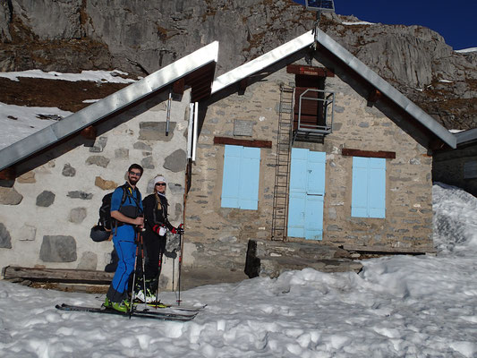 Nina et Antoine à la pause au Refuge