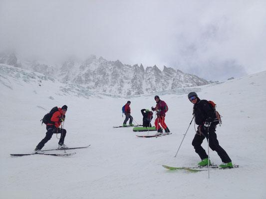 Le team sur le Glacier des Rognons