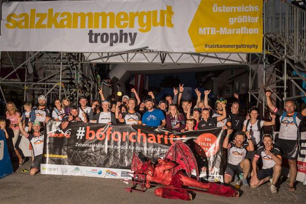 Salzkammergut Mountainbike Trophy 2018 - Teufel im Ziel (Foto: Marc Schwarz)