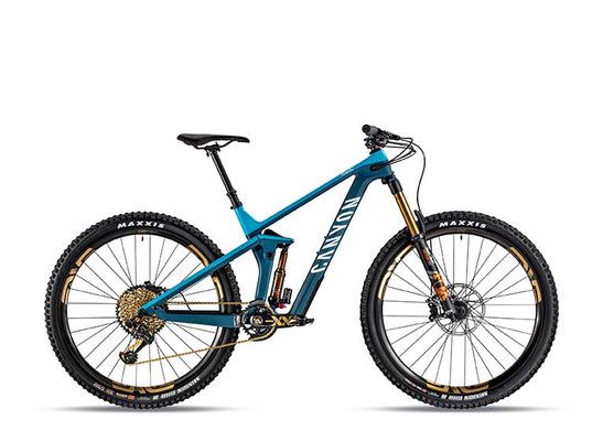 Red Dot Design Award Gewinner 2019  Das Enduro-Fully Strive CF, hier als Top-Modell Strive CFR 9 Ltd. ©Canyon Bicycles