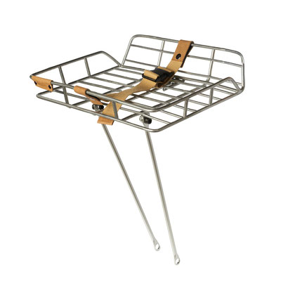 50408 Basil Portland front carrier with railing and carrierstrap alu natural
