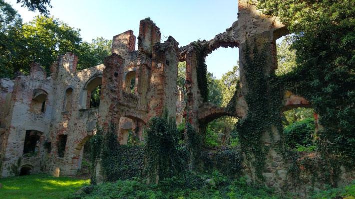 """Ruine des """"Neuen Schlosses"""" in Tylsen. Foto: Kathrin Arlt"""