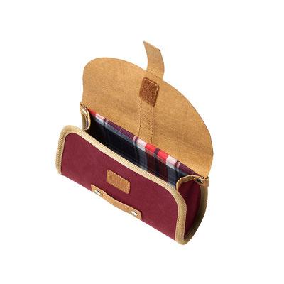17635 Basil Portland saddlebag dark red