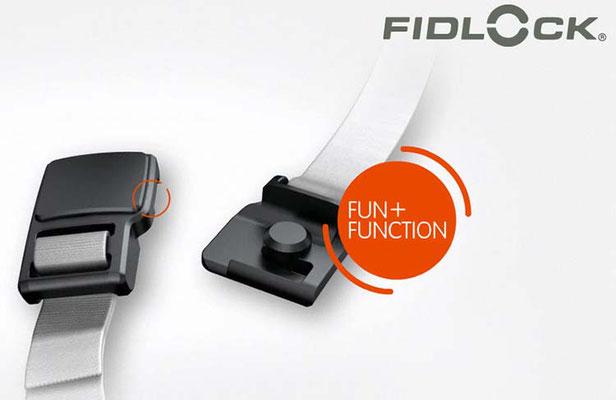 FIDLOCK / Innovatives, benutzerfreundliches Verschlusssystem welches die Vorteile einen Magnetverschlusses und jene eines konventionellen Verschlusses vereinen / Quelle: fidlock.com
