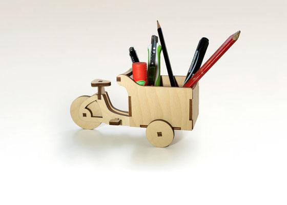 Cargolis - Miniatur-Cargobikes aus Holz jetzt in neuem Design