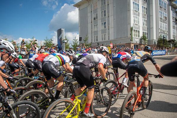 Start  14, Braidot Luca, Santa Cruz FSA, , ITA  4, Schurter Nino, Scott-SRAM, , SUI  53, Schwarzbauer Luca, Lexware Mountainbike Team, MTB Teck, GER
