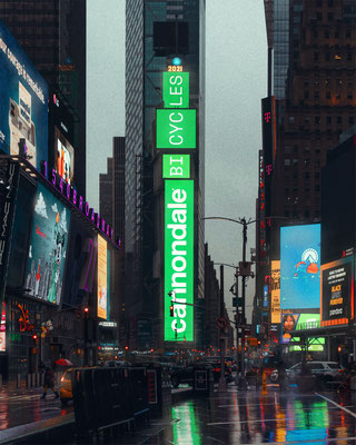 Adventure Neo NY billboard ©Cannondale – Internationale Out-of-Home-Kampagne am Times Square