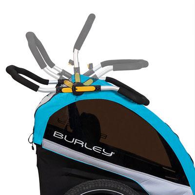 Burley D'LITETM X / Höhenverstellbarer Schiebebügel mit neuer ergonomischer Form ©Burley