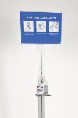 smart floor fresh Desinfektionsständer - A4/A3 Infofläche