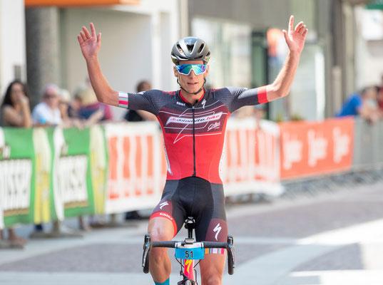 Simon Schupfer gewann 2019 die Dolomitenradrundfahrt  ©Expa Pictures