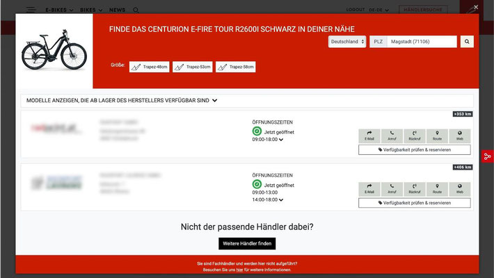 MERIDA & CENTURION Germany GmbH erweitert ab sofort seine E-Commerce Strategie