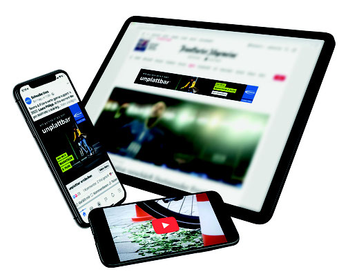 Ab April läuft Schwalbes Marketing-Kampagne für den Marathon E-Plus auf zahlreichen Kanälen.    Fotos: Schwalbe