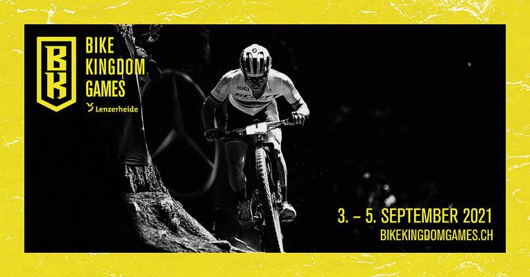 Keyvisual mit Camille Balanche / Copyright: Verein Bike Weltcup Lenzerheide