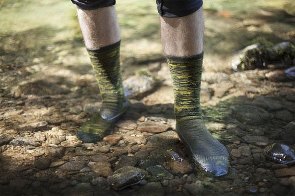 Wasserdichte und atmungsaktive Socken ©Shower Pass