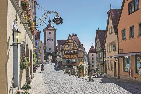 Große Deutschland-Tour mit drei Etappen - hier in Rothenburg ob der Tauber ©Pixabay