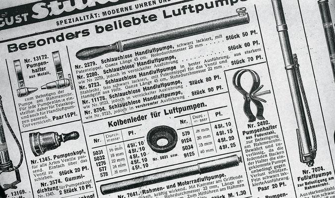 Zeitungsanzeige aus den Anfangsjahren