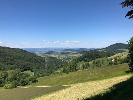 Blick vom Benkerjoch Richtung Aarau und Buchs