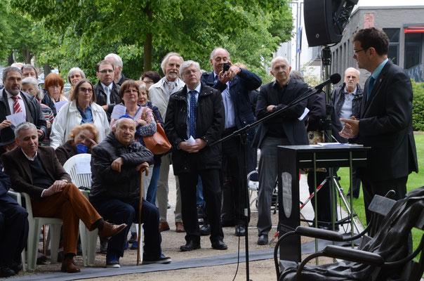 Bürgermeister Armin Häuser bei seiner Ansprache