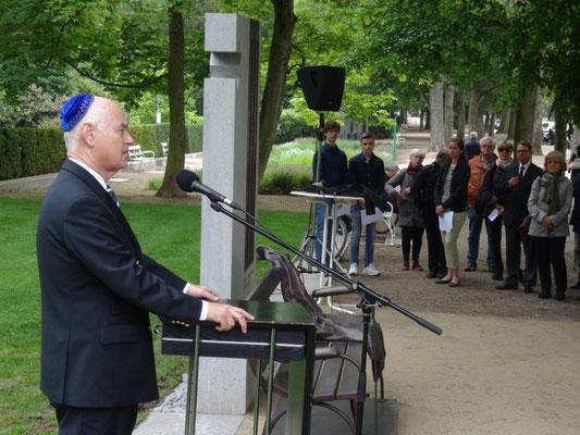 Ansprache des Vorsitzenden der Jüdischen Gemeinde, Manfred de Vries