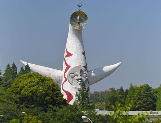 """懐かしの「太陽の塔」。芸術は""""爆発""""です。"""