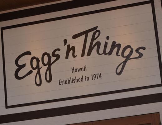 東京では見慣れたハワイアンパンケーキのEgg's Things