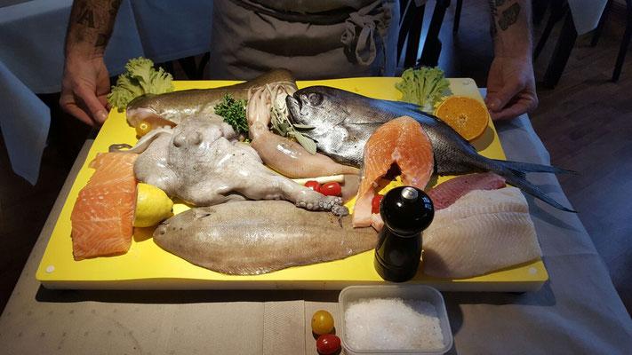 Das Da Capo steht für frischen Fisch, gern auch auf besondere Bestellung.