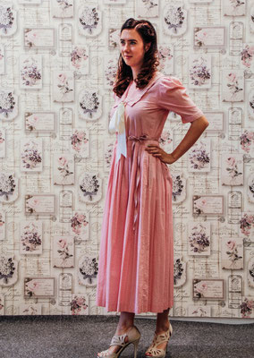 True Vintage laura Ashley Matrosenkleid