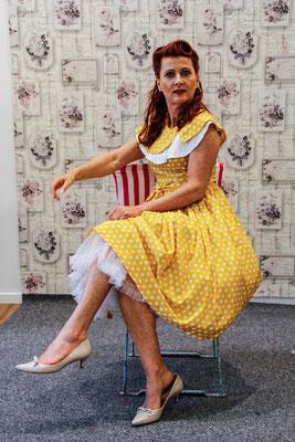 50er Jahre Tupfenkleid klennes