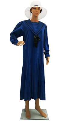 Laura Ashley Matrosen Cordkleid blau