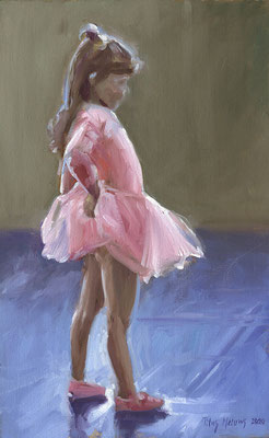 Ballerina I. Olieverf op doek. 40 x 25 cm