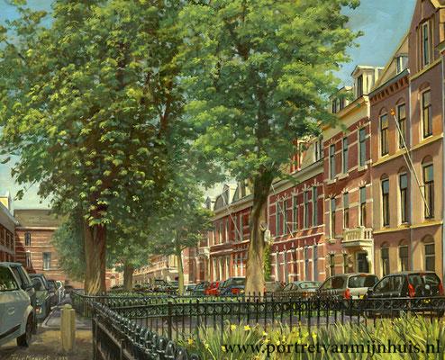 Opdracht Surinamestraat Den Haag. Olieverf op doek. 50 x 60 cm