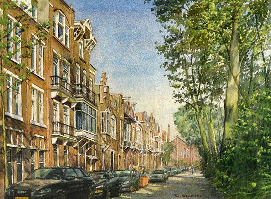 Opdracht Bredeweg Amsterdam. Aquarel. 35 x 50 cm