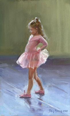 Ballerina III. Oilieverf op doek. 40 x 25 cm