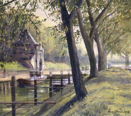 De Veerpoort Schoonhoven Aquarel 35 x 50 cm